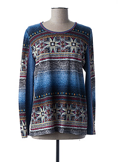 Pull col rond bleu ANNE KELLY pour femme