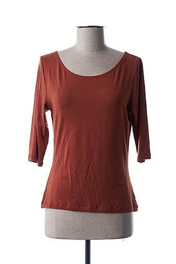 T-shirt manches longues marron FROY & DIND pour femme