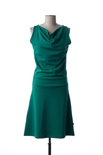 Robe mi-longue vert FROY & DIND pour femme