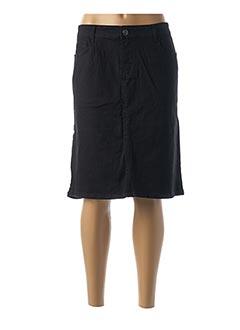 Jupe mi-longue noir BIG SPADE pour femme