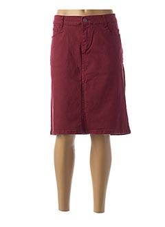 Jupe mi-longue rouge BIG SPADE pour femme