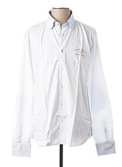 Chemise manches longues blanc BLACK WELLIS pour homme