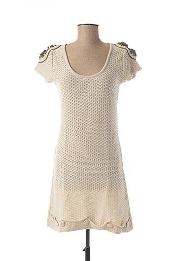 Robe courte beige DRESSING DE JOLA pour femme