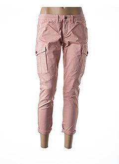 Pantalon casual rose TEDDY SMITH pour femme