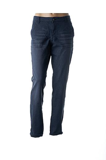 Pantalon casual bleu DDP pour femme