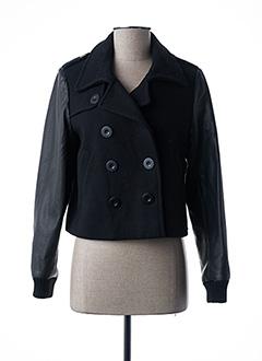 Veste simili cuir noir DDP pour femme
