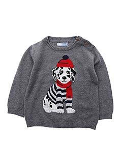 Pull col rond gris MAYORAL pour enfant