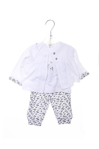 Veste/pantalon blanc BABY BOL pour fille