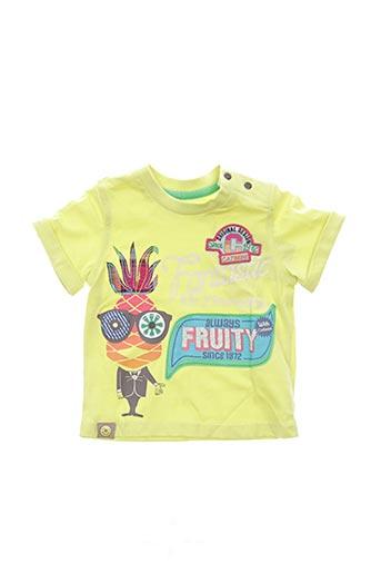 T-shirt manches courtes vert CATIMINI pour garçon