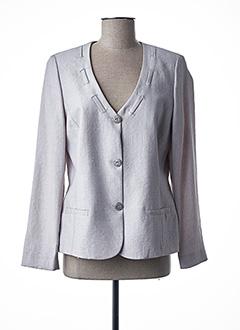 Veste chic / Blazer gris FRANCE RIVOIRE pour femme