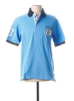 Polo manches courtes bleu CAMBRIDGE pour homme