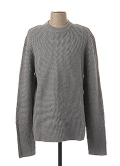 Pull col rond gris ONLY&SONS pour homme