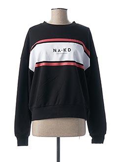 Sweat-shirt noir NA-KD pour femme