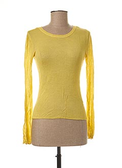 Pull col rond jaune ONLY pour femme