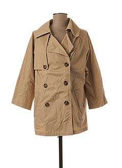 Manteau long beige MOLLY BRACKEN pour femme