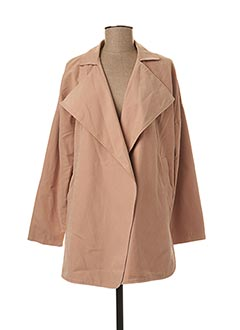 Manteau long beige TEDDY SMITH pour femme