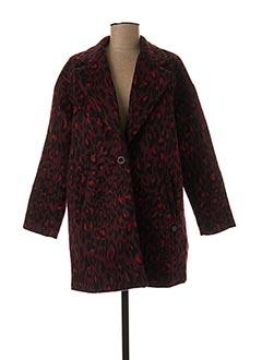 Manteau long rouge KAPORAL pour femme