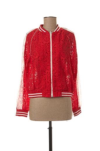 Veste casual rouge LILI SIDONIO pour fille