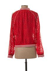Veste casual rouge LILI SIDONIO pour fille seconde vue
