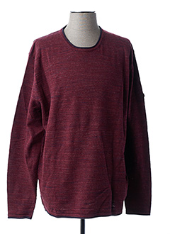 Pull col rond rouge CAMEL pour homme