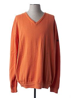 Pull col V orange CAMEL ACTIVE pour homme