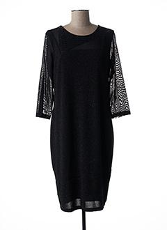 Robe mi-longue noir CHRISTINE LAURE pour femme