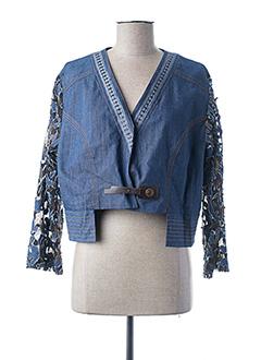 Veste en jean bleu BRIGITTE SAGET pour femme