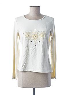 T-shirt manches longues beige DUO pour femme