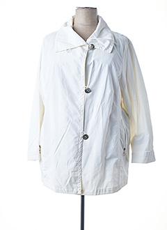 Manteau long blanc FRANK EDEN pour femme