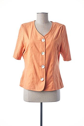 Veste chic / Blazer orange UN POINT C EST TOUT pour femme