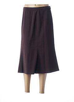 Jupe mi-longue marron KARTING pour femme