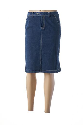 Jupe mi-longue bleu FRANK EDEN pour femme