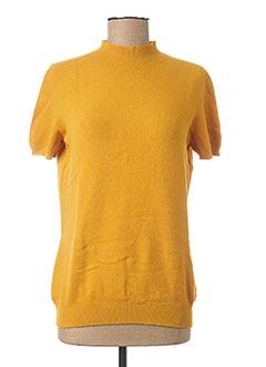 Pull col cheminée jaune GAOS pour femme