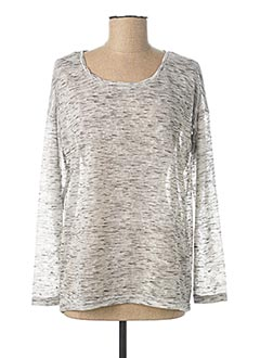Pull col rond gris B.YOUNG pour femme