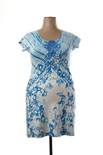 Robe mi-longue bleu ANIMAPOP pour femme