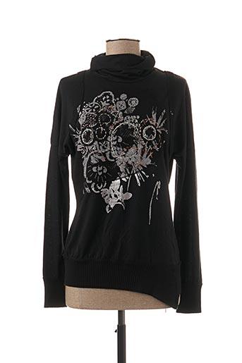T-shirt manches longues noir CAP JULUCA pour femme