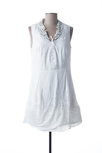Robe courte blanc VIRGINIE & MOI pour femme