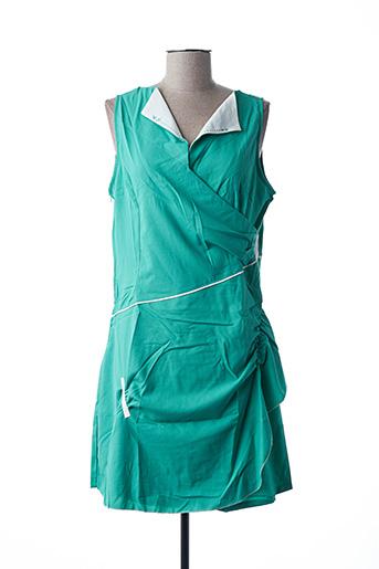 Robe mi-longue vert VIRGINIE & MOI pour femme
