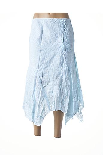 Jupe mi-longue bleu VIRGINIE & MOI pour femme