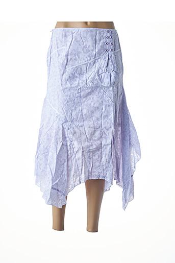 Jupe mi-longue violet VIRGINIE & MOI pour femme