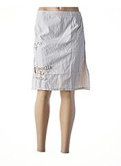 Jupe mi-longue beige L33 pour femme seconde vue