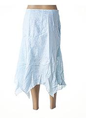 Jupe mi-longue bleu VIRGINIE & MOI pour femme seconde vue