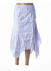 Jupe mi-longue violet VIRGINIE & MOI pour femme seconde vue