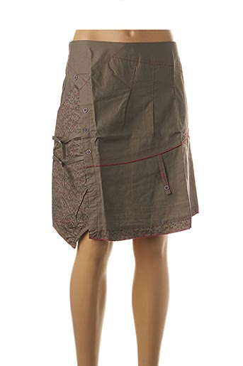 Jupe courte marron L33 pour femme