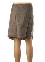 Jupe courte marron L33 pour femme seconde vue