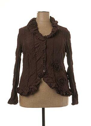 Veste casual marron L33 pour femme