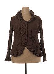 Veste casual marron L33 pour femme seconde vue