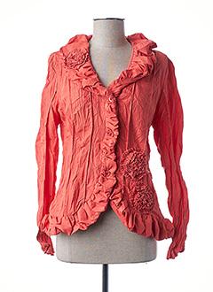 Veste chic / Blazer orange L33 pour femme