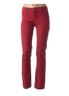 Pantalon casual rouge BS JEANS pour femme