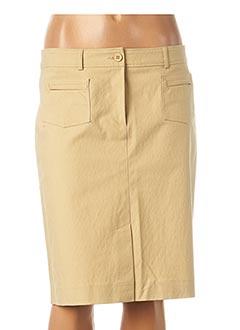 Jupe mi-longue beige TEENFLO pour femme